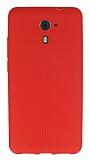 Casper Via M2 Deri Desenli Ultra İnce Kırmızı Silikon Kılıf