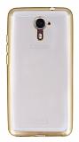Casper Via M2 Gold Kenarlı Şeffaf Silikon Kılıf