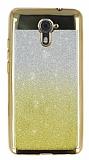 Casper Via M2 Simli Parlak Gold Silikon Kılıf