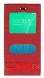 Casper Via M3 Gizli Mıknatıslı Pencereli Kırmızı Deri Kılıf
