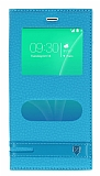 Casper Via M3 Gizli Mıknatıslı Pencereli Mavi Deri Kılıf