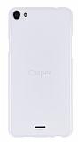 Casper Via V10 Şeffaf Beyaz Silikon Kılıf