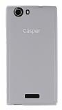 Casper Via V6X Şeffaf Beyaz Silikon Kılıf