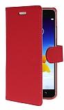 Lenovo S90 Cüzdanlı Yan Kapaklı Kırmızı Deri Kılıf