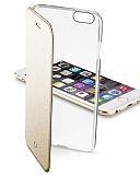 Cellular Line Clear Book iPhone 6 / 6S Deri Kapakl� Gold K�l�f