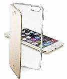Cellular Line Clear Book iPhone 7 / 8 Deri Kapaklı Gold Kılıf