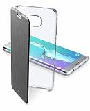 Cellular Line Clear Book Samsung Galaxy S6 Edge Deri Siyah Kapakl� K�l�f