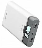 Cellular Line FreePower Ultra 10000 mAh Powerbank Beyaz Yedek Batarya