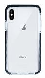 Cellularline iPhone X / XS Tetra Force Tech Siyah Kenarlı Ultra Koruma Şeffaf Kılıf