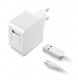 Cellularline Beyaz Micro USB Seyahat Şarj Aleti