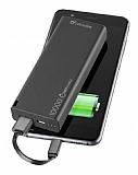 Cellularline Slim 10000 mAh Siyah Harici Şarj Powerbank Yedek Batarya