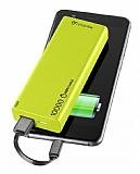Cellularline Slim 10000 mAh Harici Şarj Yeşil Powerbank Yedek Batarya
