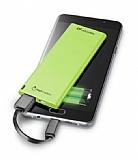 Cellularline Slim 3000 mAh Harici Şarj Yeşil Powerbank Yedek Batarya