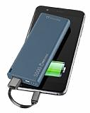 Cellularline Slim 5000 mAh Harici Şarj Lacivert Powerbank Yedek Batarya