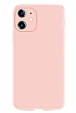 Coblue iPhone 12 6.1 inç Kamera Korumalı Pembe Silikon Kılıf