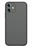 Coblue iPhone 12 6.1 inç Kamera Korumalı Siyah Silikon Kılıf