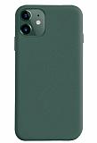 Coblue iPhone 12 6.1 inç Kamera Korumalı Yeşil Silikon Kılıf