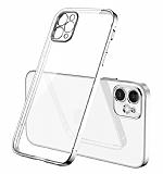 Coblue iPhone 12 Pro Max 6.7 inç Kamera Korumalı Silver Silikon Kılıf