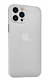Coblue iPhone 12 Pro Max 6.7 inç Ultra İnce Beyaz Rubber Kılıf
