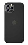Coblue iPhone 12 Pro Max 6.7 inç Ultra İnce Siyah Rubber Kılıf