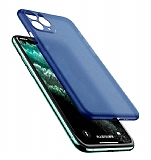 Coblue iPhone 12 Pro Max 6.7 inç Ultra İnce Mavi Rubber Kılıf