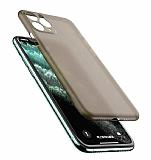 Coblue iPhone 12 Pro Max 6.7 inç Ultra İnce Füme Rubber Kılıf