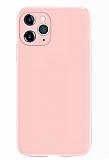 Coblue iPhone 12 Pro Max 6.7 inç Kamera Korumalı Pembe Silikon Kılıf