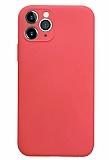 Coblue iPhone 12 Pro Max 6.7 inç Kamera Korumalı Kırmızı Silikon Kılıf