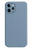 Coblue iPhone 12 Pro Max 6.7 inç Kamera Korumalı Mavi Silikon Kılıf