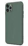 Coblue iPhone 12 Pro Max 6.7 inç Kamera Korumalı Yeşil Silikon Kılıf