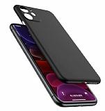 Coblue iPhone 12 6.1 inç Ultra İnce Siyah Rubber Kılıf