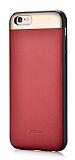 Comma iPhone 6 Plus / 6S Plus Deri Kırmızı Rubber Kılıf