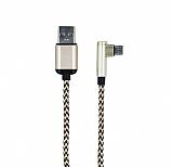 Cortrea 1m Micro USB Dayan�kl� Halat Gold Data Kablosu