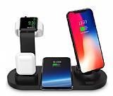 Cortrea Apple Watch, AirPods ve Kablosuz Şarj Siyah Masaüstü Dock