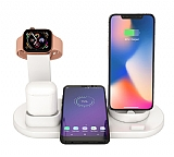Cortrea Apple Watch, AirPods ve Kablosuz Şarj Beyaz Masaüstü Dock