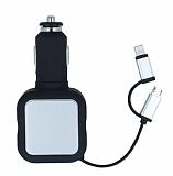 Cortrea �ift USB Giri�li Kablolu Siyah Ara� �arj�