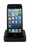 Eiroo iPhone SE / 5 / 5S Masaüstü Dock Şarj Aleti Siyah