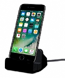 Cortrea iPhone 7 / 8 Lightning Masaüstü Dock Siyah Şarj Aleti