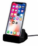 Cortrea iPhone X / XS Lightning Masaüstü Dock Siyah Şarj Aleti