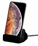 Cortrea iPhone XS Max Lightning Masaüstü Dock Siyah Şarj Aleti