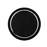 Eiroo Kablosuz Deri Siyah Hızlı Şarj Cihazı
