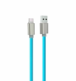 Cortrea Karanlıkta Parlayan Mavi Micro USB Data Kablosu 1m