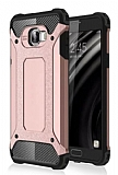 Dafoni Tough Power Samsung Galaxy C5 Ultra Koruma Rose Gold Kılıf