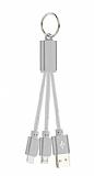 Cortrea Lightning & Micro USB Anahtarl�k Dark Silver K�sa Data Kablosu