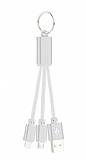 Cortrea Lightning & Micro USB Anahtarl�k Silver K�sa Data Kablosu