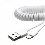 Cortrea Lightning Spiral Beyaz Data Kablosu
