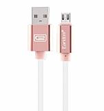 Cortrea Manyetik U�lu Micro USB Rose Gold Data Kablosu