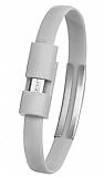 Cortrea Micro USB Bileklik Gri Data Kablosu