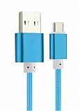 Cortrea Micro USB Dayanıklı Halat Mavi Data Kablosu 1,50m