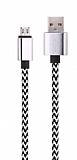Cortrea Micro USB Dayan�kl� Halat Silver Data Kablosu